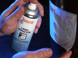 Video on how adhesive and food label remover works - Label & Adhesive Remover FG